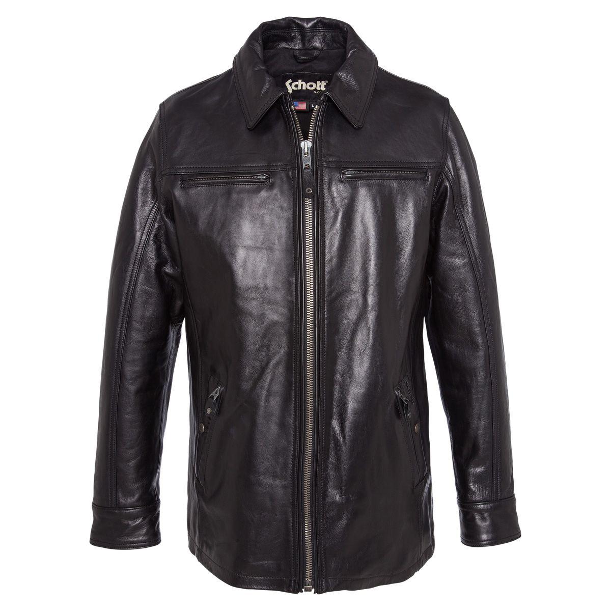 Sélection de vestes et blouson cuir Schott, Chevignon, Kaporal à -65% - Ex : Veste longue casual vachette Schott LC 2105B