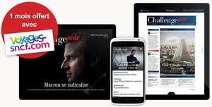 Abonnement numérique ChallengeSoir gratuit pendant 1 mois (web + mobile + tablette)
