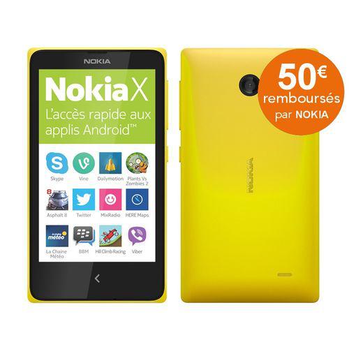 Smartphone Nokia X - Jaune, vert ou noir (avec ODR 50€)