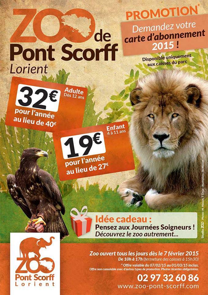 Pass annuel pour le zoo de Pont-Scorff