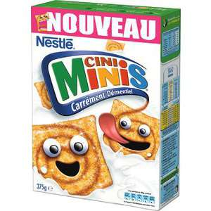 Céréales Nestlé Cini Minis - 375g gratuit (avec 1.09€ sur la carte de fidélité et gain)