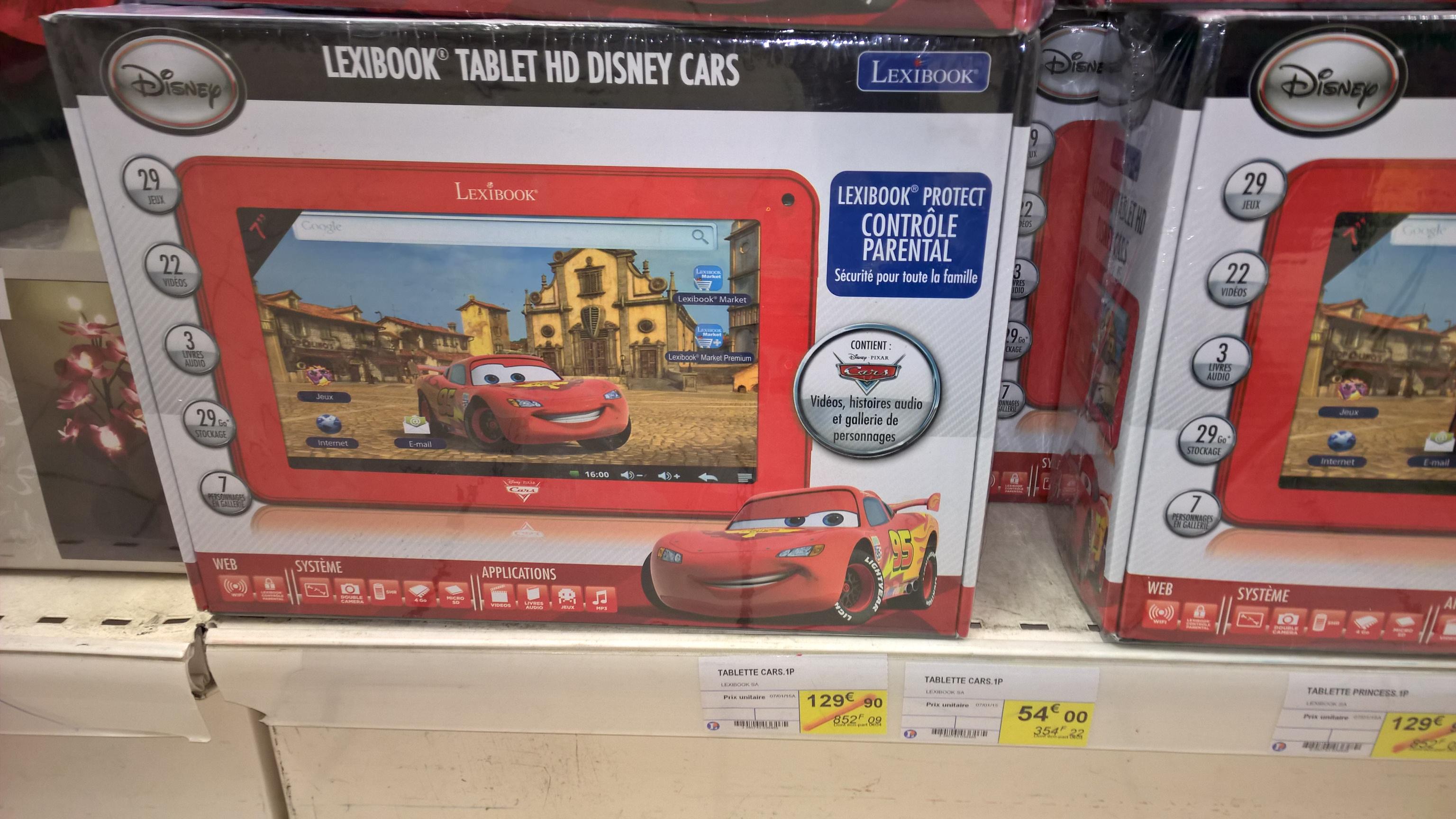 """Tablette 7"""" pour enfants Lexibook Cars"""