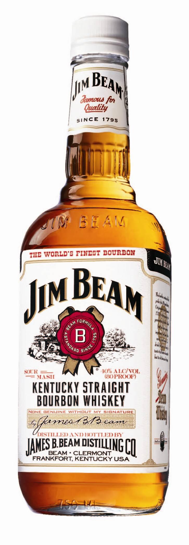 Bourbon Jim Beam 1L (avec 50% sur la carte fidélité)