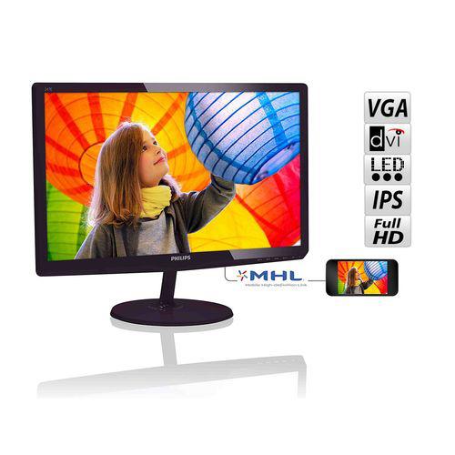 Moniteur PC 23,6'' Philips 247E6QDSD - IPS-ADS (VGA, DVI, HDMI-MHL)