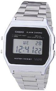 Montre Mixte Casio A158WEA-1EF - Vintage - Quartz Digital - Bracelet Acier Argent