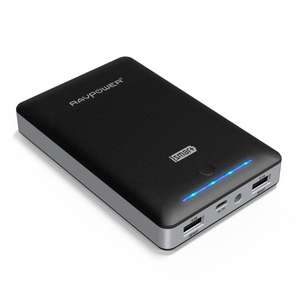 Batterie RAVPower 15000mAh - 2 Ports USB et LED