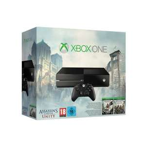 Console Xbox One Noire + Assassin's Creed Unity et Black Flag ou Xbox One Blanche + Sunset Overdrive (+ 100€ en SuperPoints)