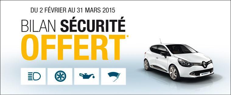 Bilan Sécurité Renault offerte