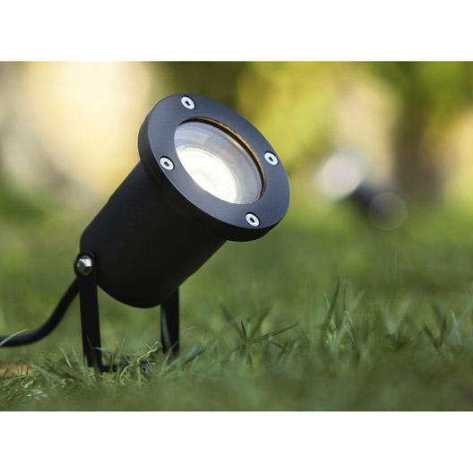 Projecteur à piquer Inspire extérieur Ada GU10 noir