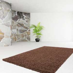 Tapis de salon Shaggy Tendy 30mm 120x160cm  - Marron
