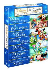 Coffret DVD 7 classiques Disney (Import Espagnol - Langue FR)