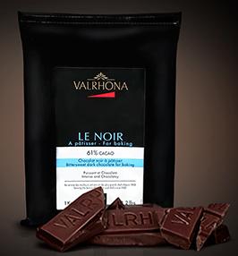 Bloc de 1Kg de chocolat patissier Valrhona (plusieurs saveurs)