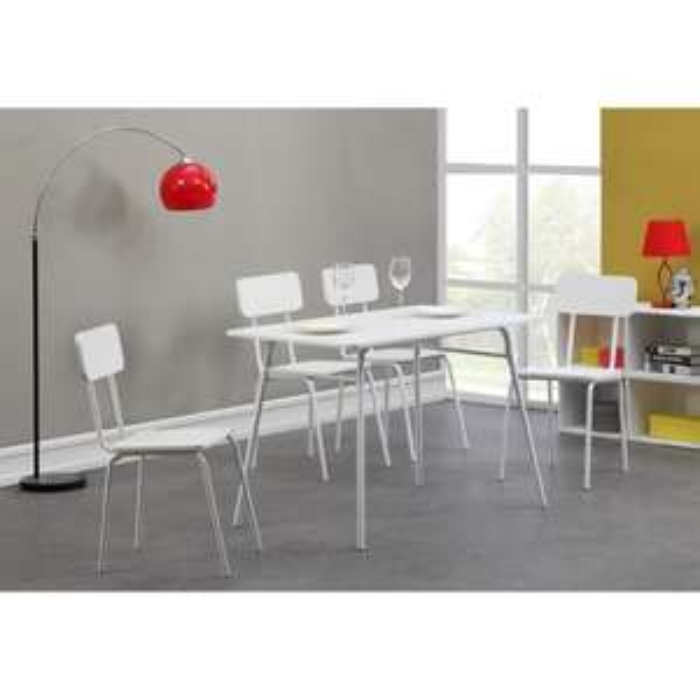 Ensemble repas table + chaises 110cm blanc Smiley