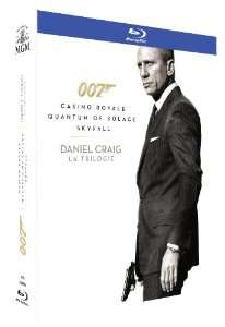 Coffret Blu-Ray James Bond 007 Daniel Craig : La Trilogie (Casino Royale + Quantum of Solace + Skyfall)
