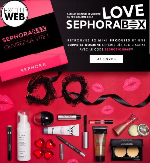 Boite SephoraBox (contenant 12 mini-produits + une surprise) offert pour 80€ d'achat