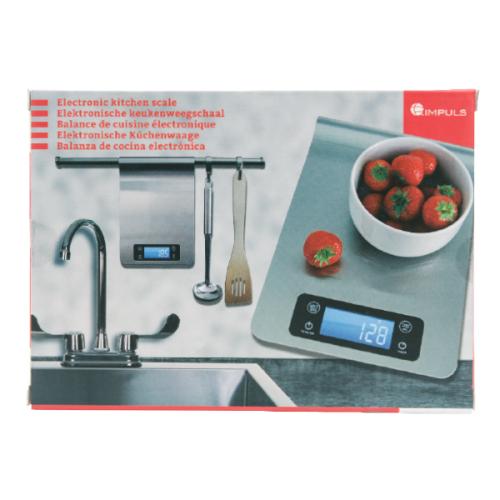 Balance électronique de cuisine en inox avec écran LCD