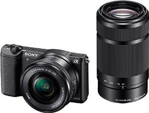 Appareil photo à objectif interchangeable Sony A5100 noir + 2 objectifs 16-50mm + 55-210mm