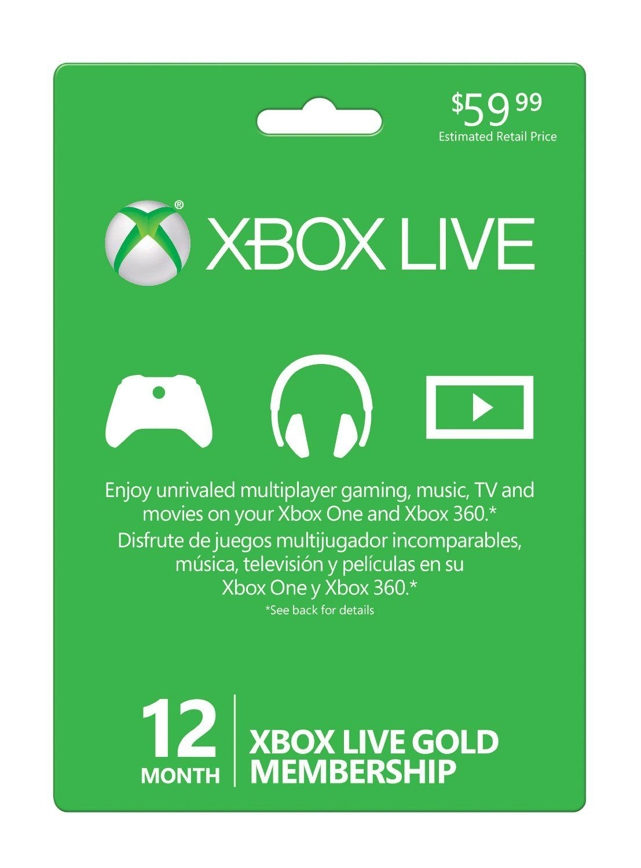 12 Mois Xbox Live (téléchargement)