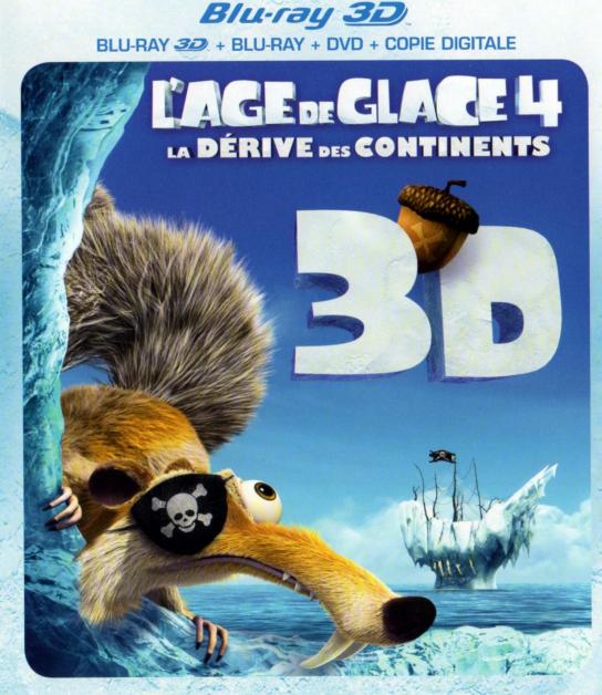 Sélection de Blu-ray DVD en promo - Ex : L'age de Glace 4 en blu-ray 3D