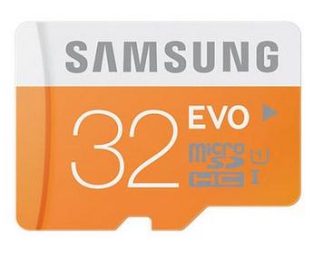 Carte mémoire micro SDXC Samsung Evo - 32 Go classe 10