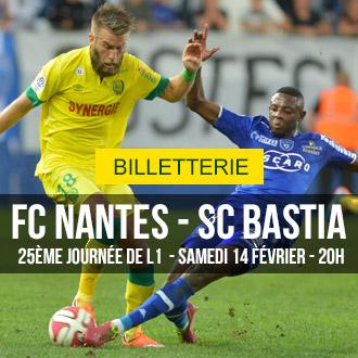 [Réservé aux femmes et aux - de 18 ans] Place pour le match FC Nantes / SC Bastia (Samedi 14/02)
