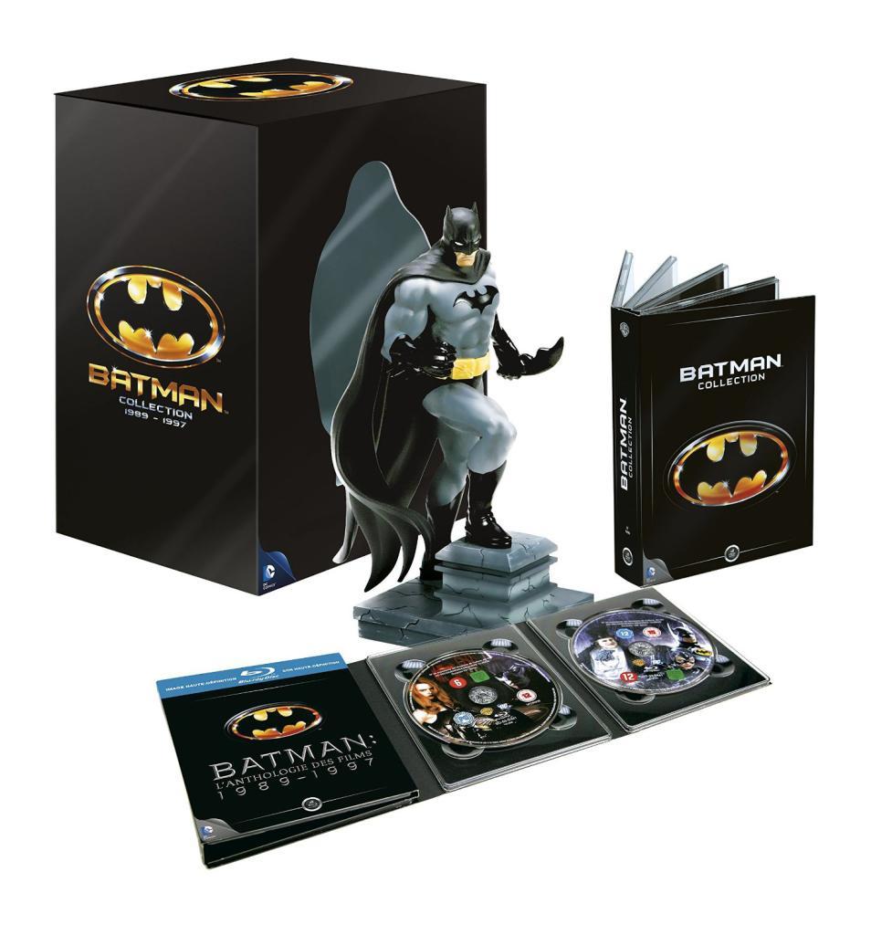 Batman Collection : Intégrale des 4 Films Blu Ray + Dvd (1989-1997)  - Coffret Collector Edition Limitée avec Statue Batman