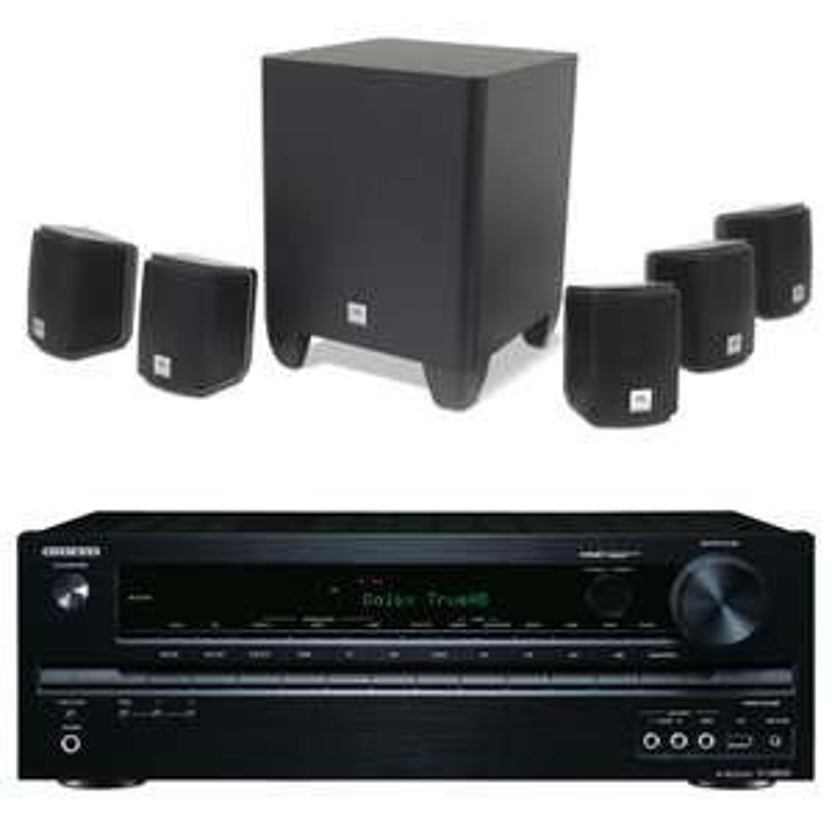 Ampli home-cinéma 5.2  Onkyo TX-NR535 Noir + Pack d'enceintes compactes 5.1 JBL Cinema 510