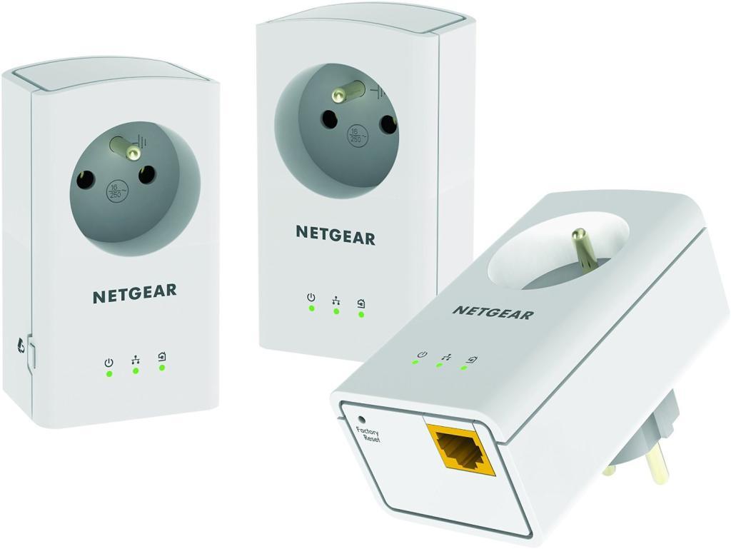 Pack de 3 adaptateurs CPL 500 avec prise Netgear