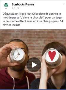 1 triple hot chocolate acheté = 1 offert