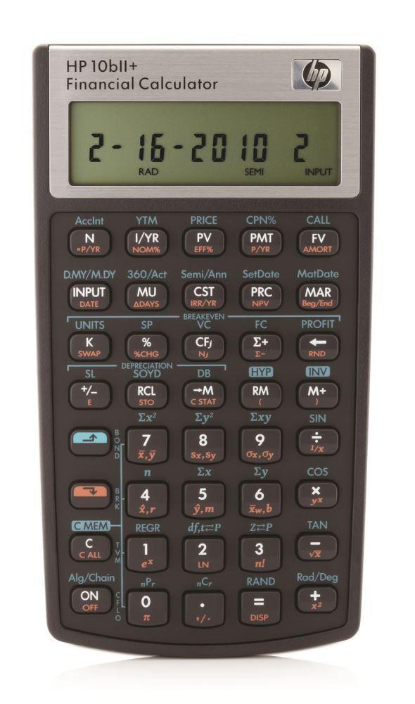 Calculatrice financière HP HP10bII+