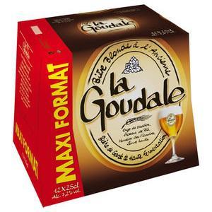 Pack de bière blonde à l'ancienne la Goudale 12x25cl (avec 50% sur la carte)