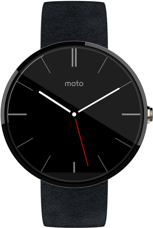 Montre connectée Moto 360 Grise/Noire (avec ODR 50€)
