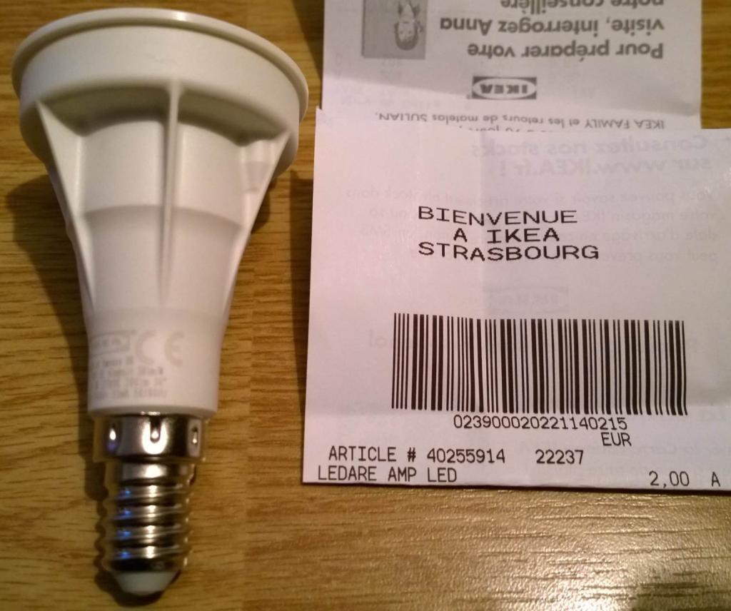 Ampoule LED Ledare E14 (LED1211R4) 200lm 4W