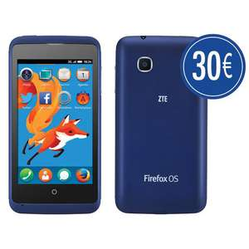 """Smartphone 4"""" Zte Open C bleu Firefox OS 1.3 (30€ ODR)"""