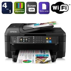 Imprimante multifonctions Epson WorkForce WF-2660DWF + Pack cartouches Epson (60€ ODR)