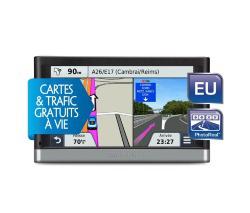 GPS Garmin Nuvi 2447 LMT - Europe 23 Pays - Info Trafic et MAJ des Cartes Gratuite et à Vie (+ Câble Ethernet) -