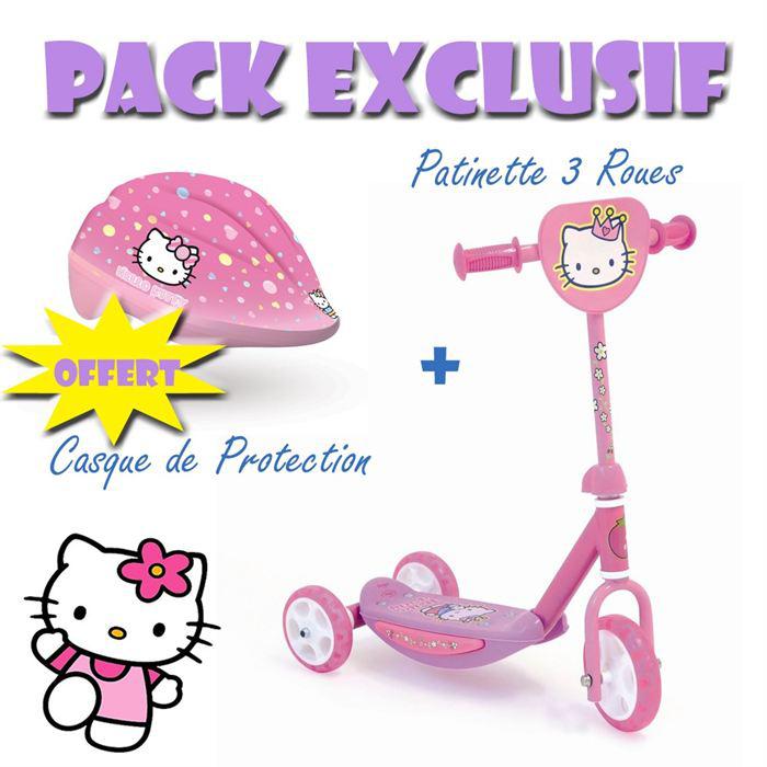 Pack trottinette et casque Hello Kitty ( à partir de 3ans )