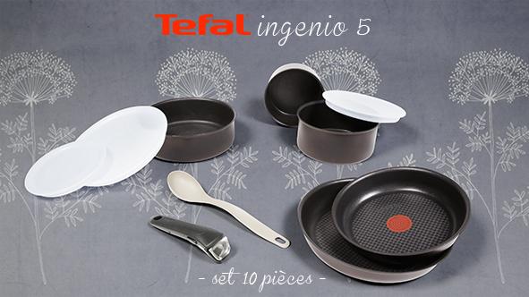 Batterie de cuisine 10 pièces induction Tefal Ingenio 5