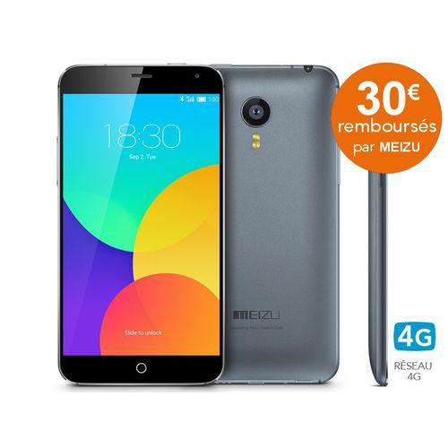 Smartphone Meizu MX4 16Go (4G) - Gris  (30€ d'ODR)