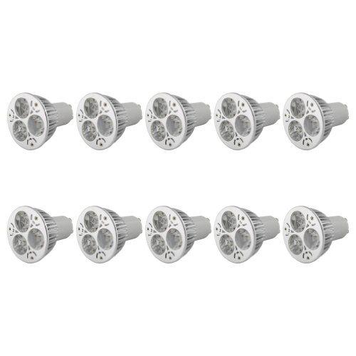 Lot de 10 ampoules spots à LED à basse consommation et forte puissance