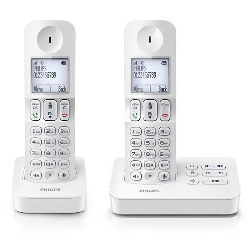 Telephone fixe sans fil  Dect Philips D405 duo répondeur