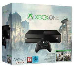 Console Xbox One + Assassin Creed Unity et Black Flag
