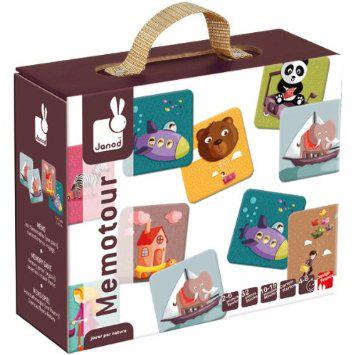 Sélection de jouets Janod en promo - Ex : Jeu de mémo 32 pièces en bois thème voyage