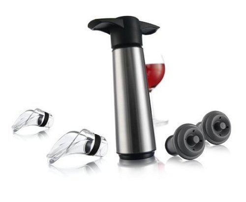 Coffret Wine Vacu Vin 863 Saver 5 pièces Acier Brillant