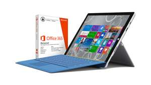 PC hybride Microsoft  Surface Pro 3 128 Go + Type Cover 3 + Office 365 Personnel 1 an