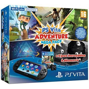 Pack console PS Vita noire + Voucher Adventure Mega Pack + Carte mémoire 8 go + Minecraft Offert