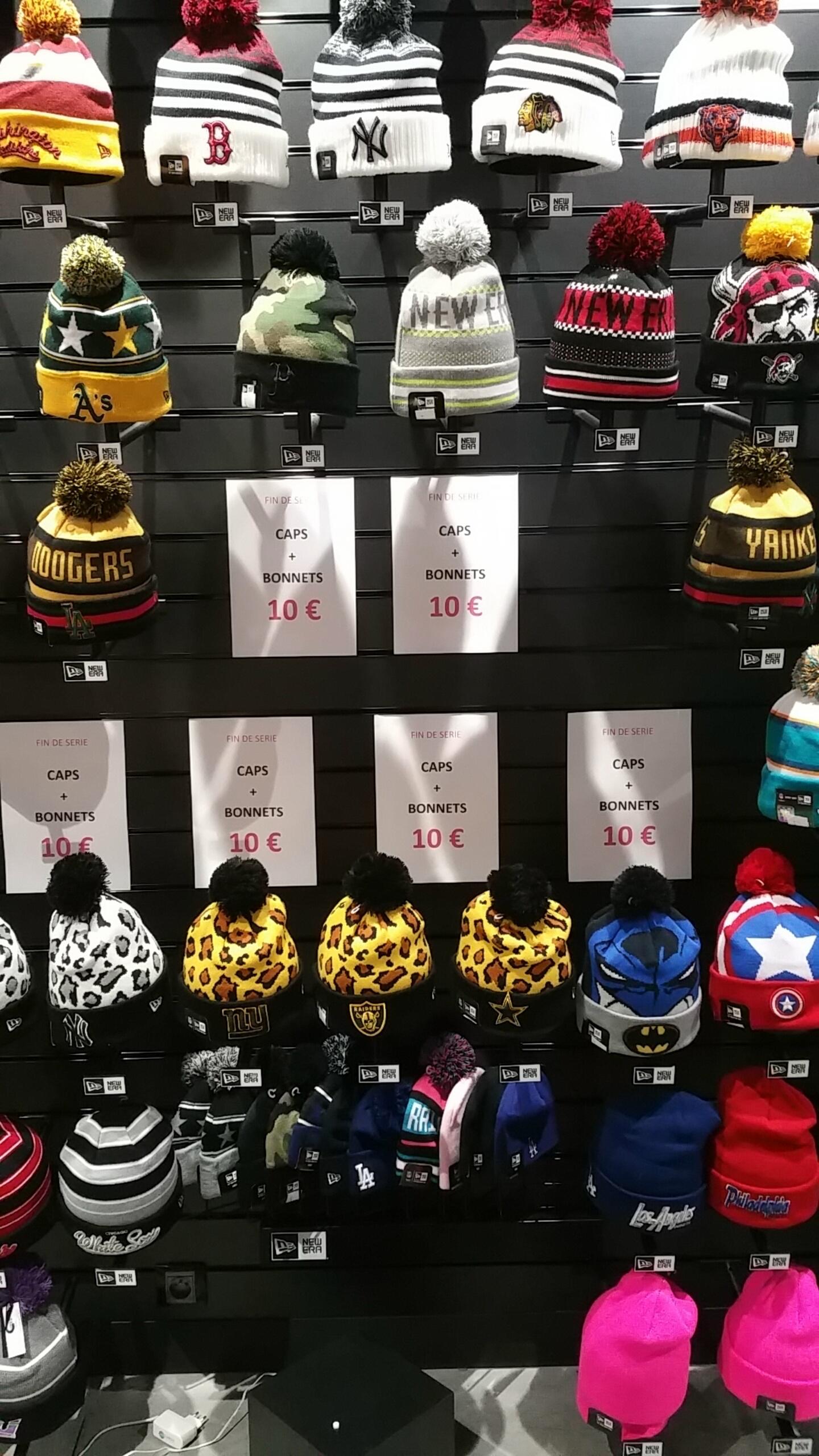 Sélection de bonnets et casquettes (New Era, etc)