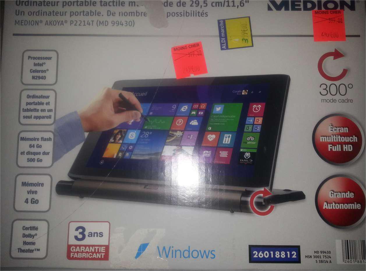 "PC hybride 11.6"" Medion Akoya P2214T (MD 99430)"