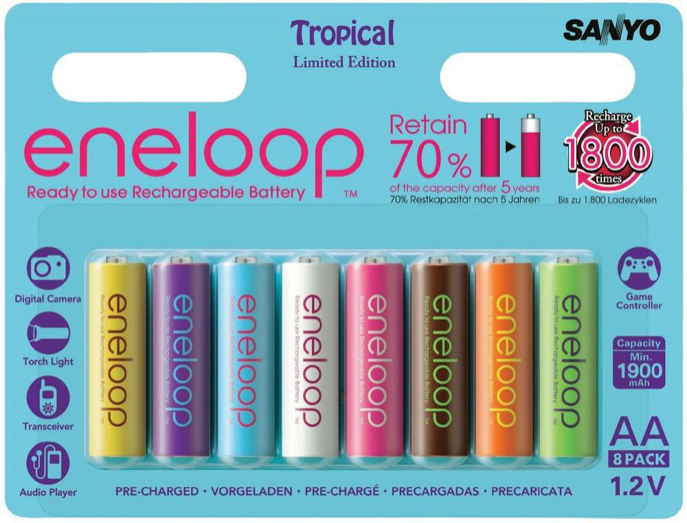 8 Batteries rechargeables AA Sanyo Eneloop 2000 mAh