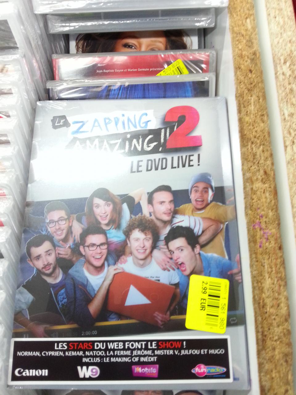 Le Zapping Amazing 2 (avec Norman, Cyprien, Mister V, Hugo...) en DVD